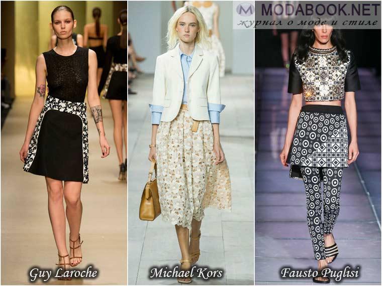 Удачные образы с юбками весны 2015