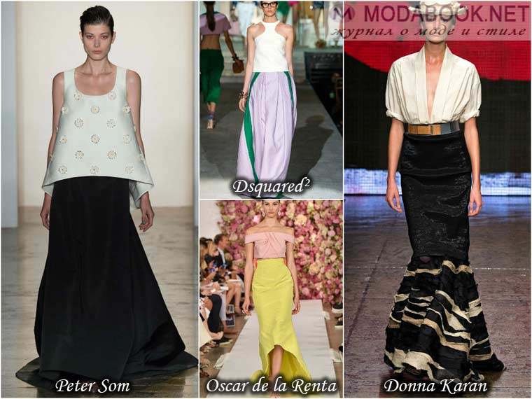 Элегантные юбки длиною в пол к весне 2015