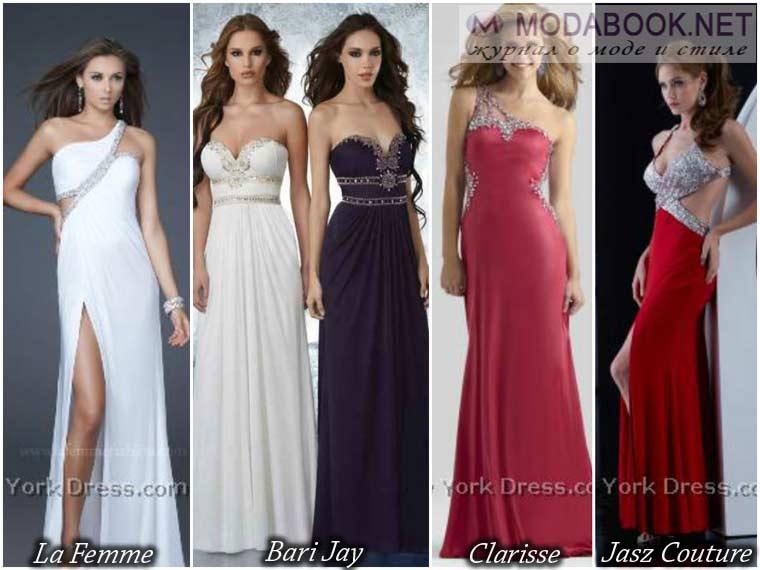 Выпускные модели платьев с вырезом 2017