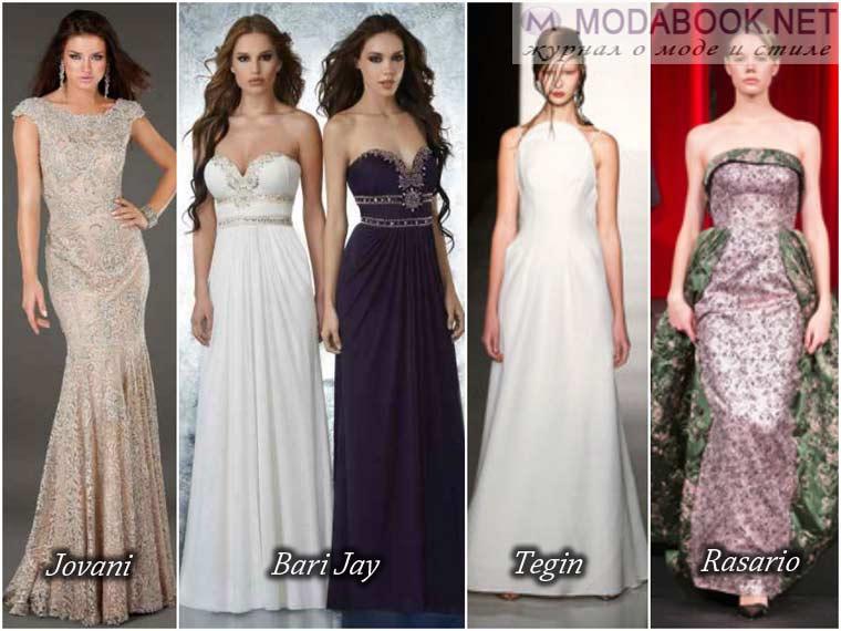 Длинные модные платья на выпускной бал 2017