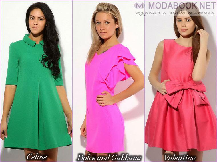 Разнообразие цветов короткого выпускного платья 2015