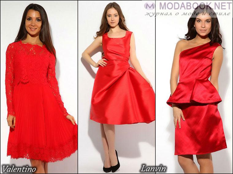Вечерние короткие красные платья к выпускному 2015 года