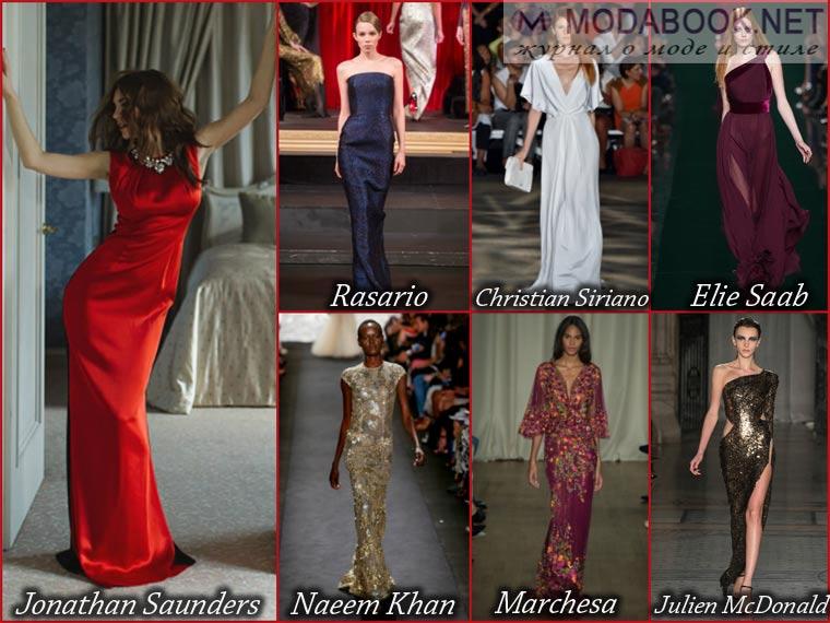 Прямой фасон длинного выпускного платья 2015