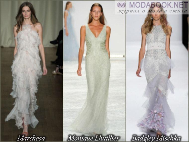 Длинное белое выпускное платье