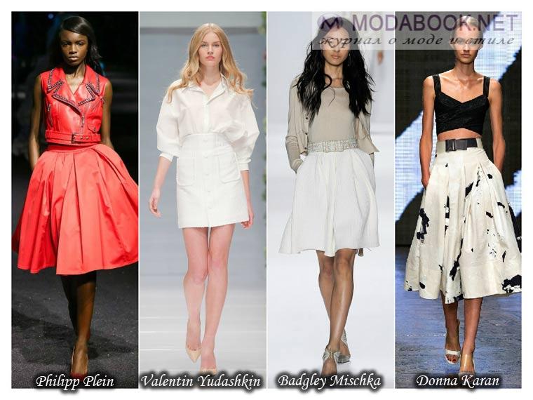 Модные юбки лето 2015 с акцентом на талию