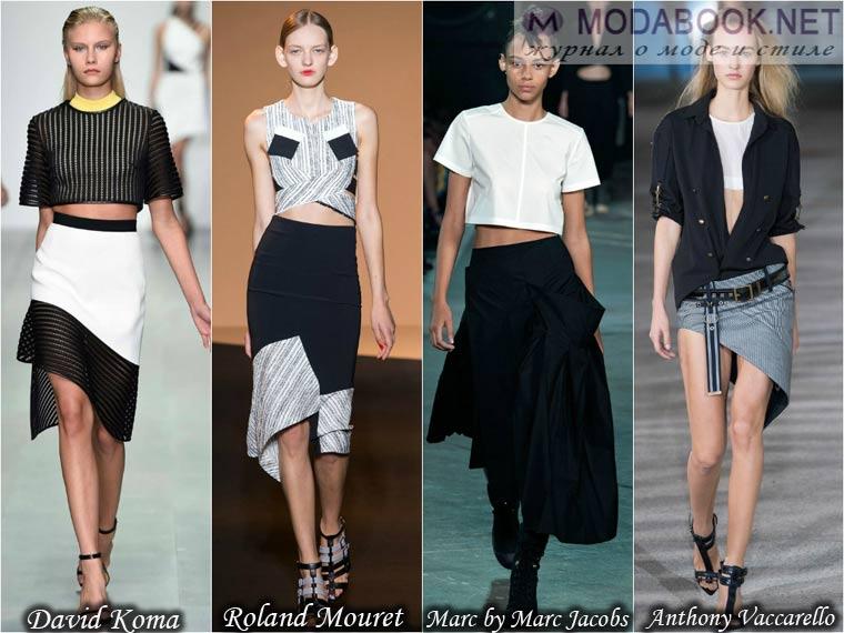 Асимметричные модели юбок лето 2015
