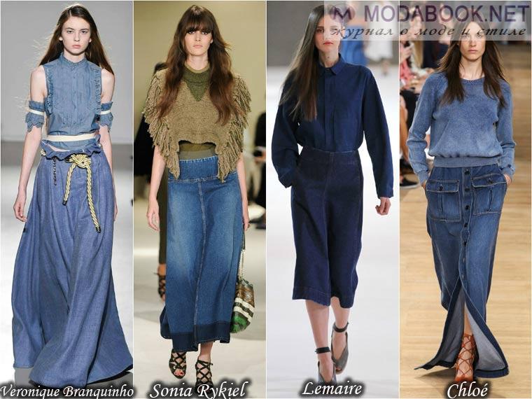 Летние юбки 2015 из денима
