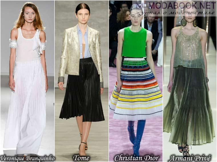 Плиссированнные юбки 2015