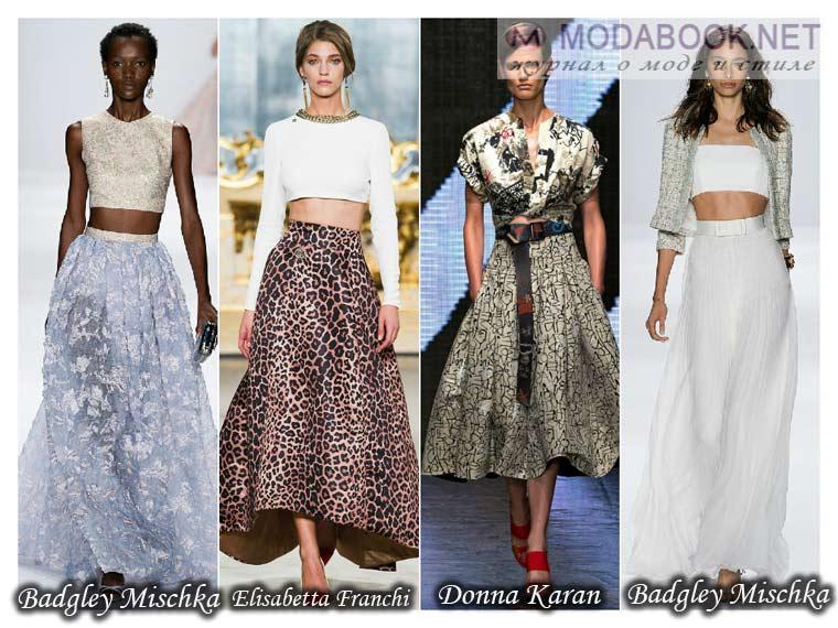 Модные юбки лето 2015 роскошной длинны