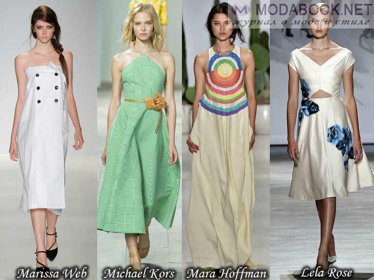 Модные женские сарафаны - лето 2015