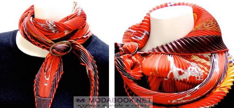 «Воздушное» украшение в виде косынки на шее