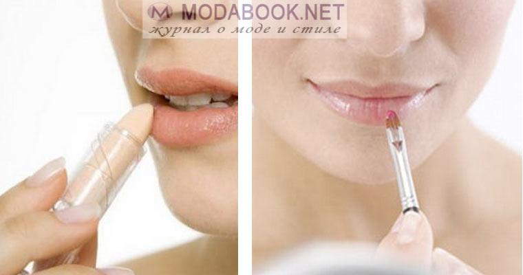 Натуральный макияж губ на свадьбу