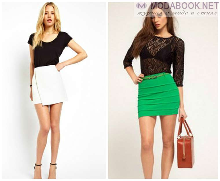 Короткие юбки 2015
