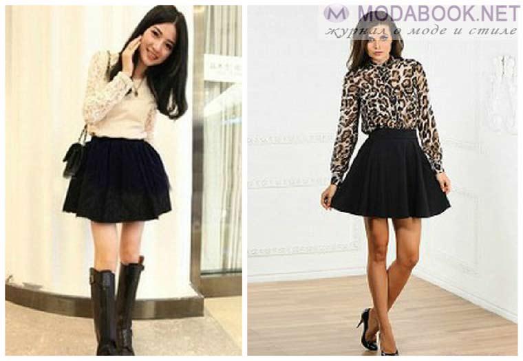 Пышные короткие юбки-2015