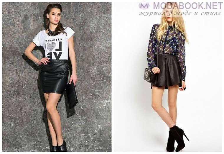 Трендовое сочетание модных в 2015 году мини-юбок