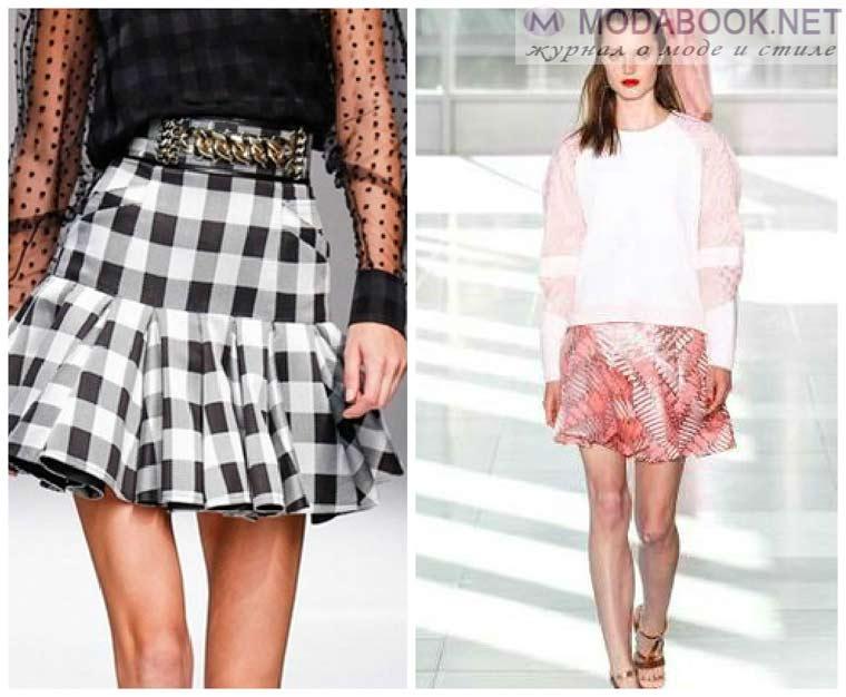 Мини-юбки 2015 с расклешенным подолом