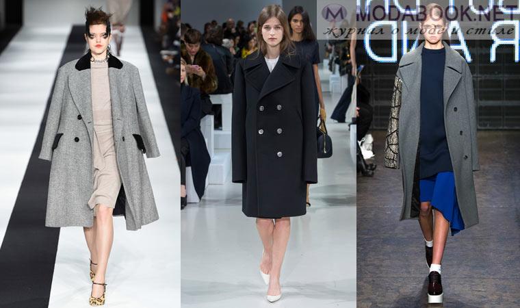 Пальто в стиле оверсайз осень зима 2015-2016