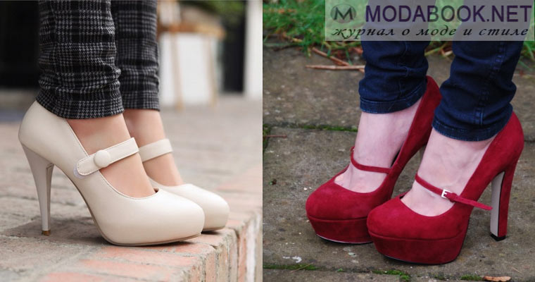 Женские туфли в стиле Мери Джейн