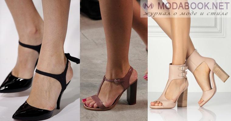 Женская деловая обувь-босоножки