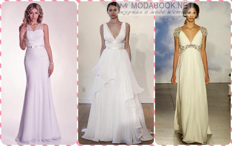 Свадебные платья в греческом стиле и в стиле «ампир»