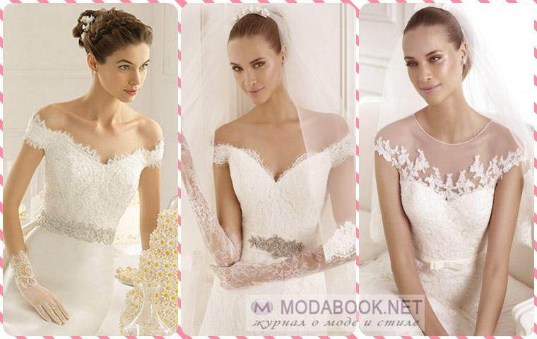 Лиф свадебных платьев украшают вышивкой, стразами и прочими декоративными элементами