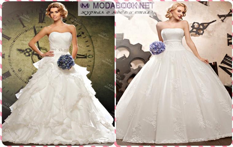 Свадебное платье с шикарной пышной юбкой