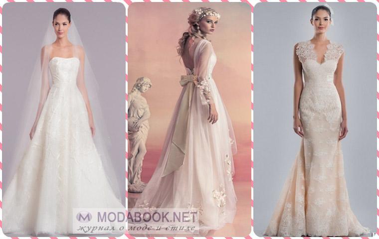 Свадебные платья пастельных оттенков