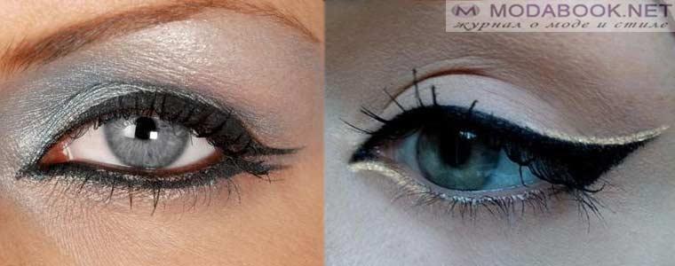 Подводка глаз для макияжа голубоглазых красавиц