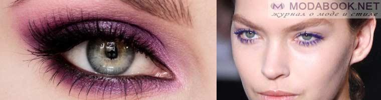 Повседневный образ в макияже голубых глаз