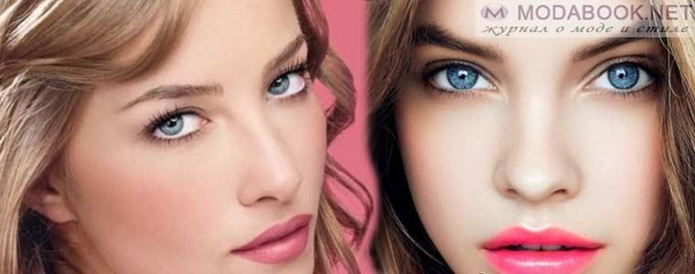 Повседневный макияждля глаз голубого оттенка