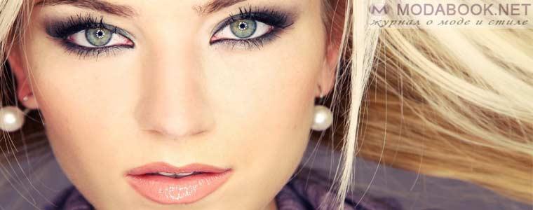 Удачный вариант макияжа голубых глаз