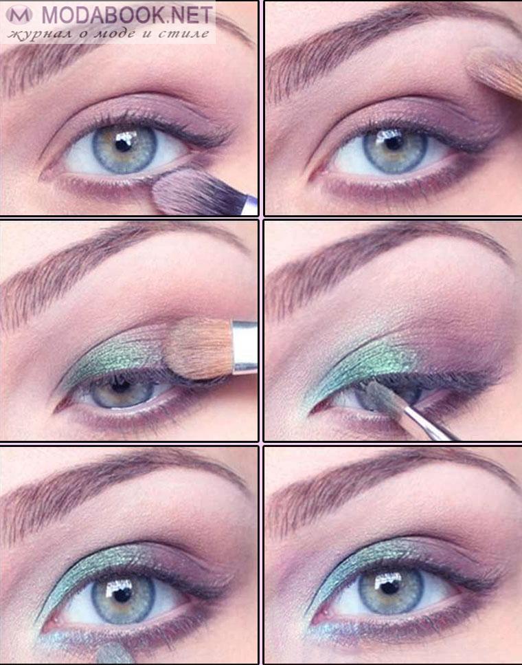 Подробный урок макияжа для голубых глаз