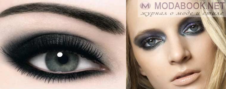 Макияж голубых глаз для вечеринки