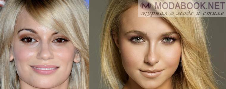 Дневной макияж кареглазых блондинок