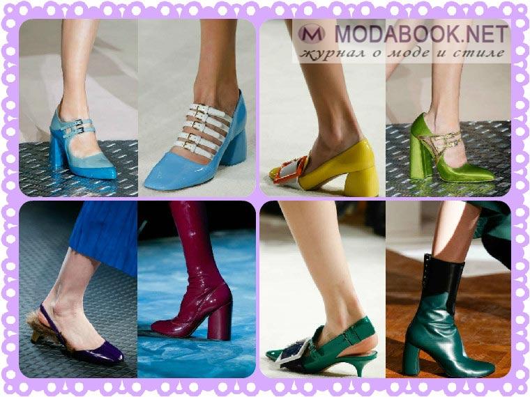 Модная обувь осенне-зимней коллекции 2015 2016 с обширной цветовой гаммой