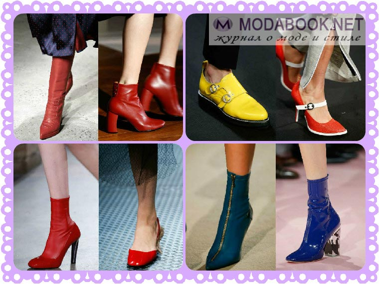 Модная обувь осень-зима 2015 2016 с обширной цветовой гаммой