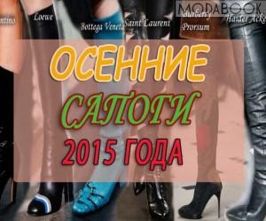 Модные осенние сапоги 2015