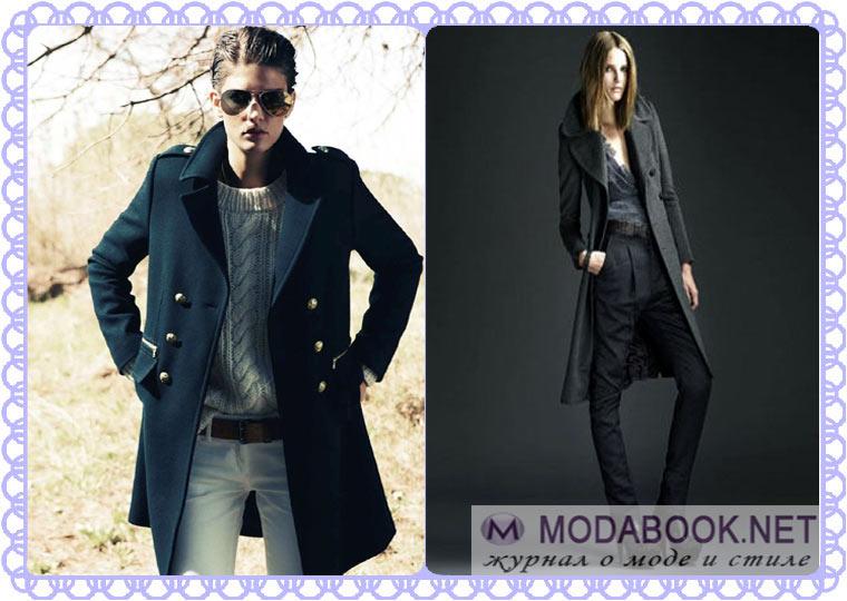 Плащики модного стиля «милитари»