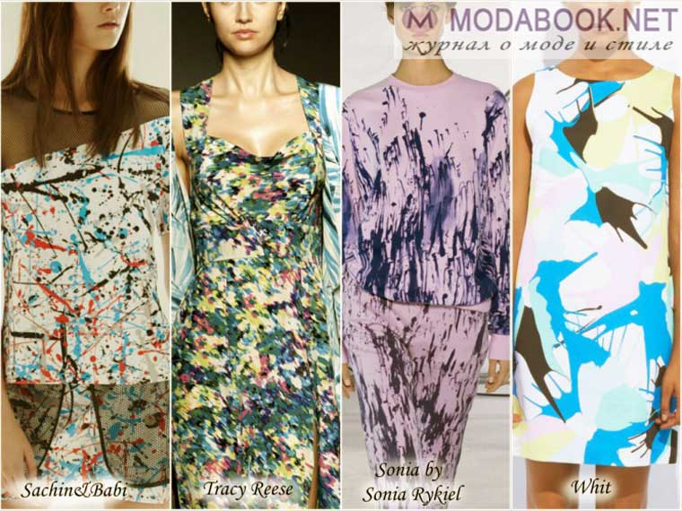 Модные принты лето 2015 с изображениями астракций на одежде