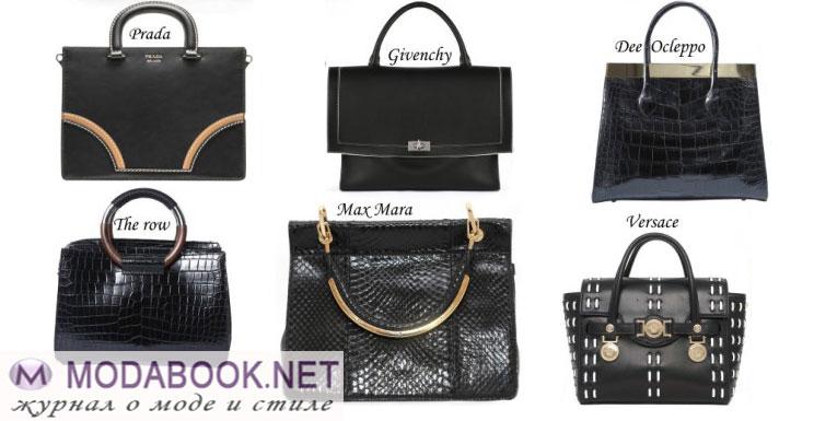 Классические черные сумки лета 2015 года