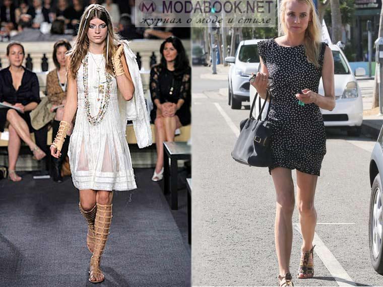 Женские сандалии с платьем