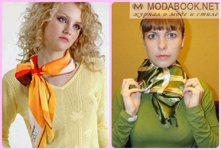 Способы завязывания летних шарфов