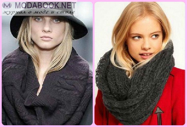 Способы завязывания вязанного шарфа снуда