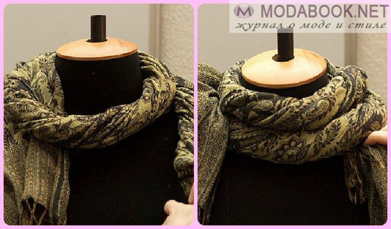 Элегантные способы завязывания шарфа на шее - жгут на шее