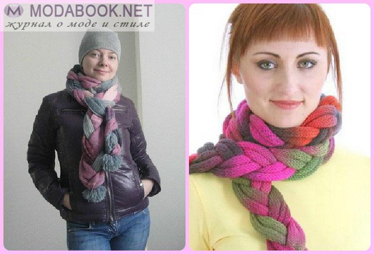 Элегантные способы завязывания шарфа на шее - дюймовочка
