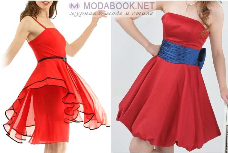 Красные вечерние платья 2018