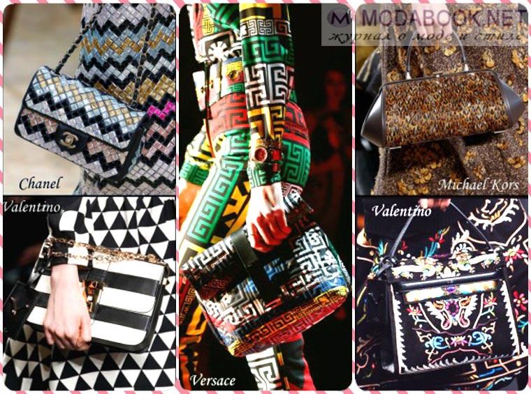 Модная женская сумка под принт на одежде