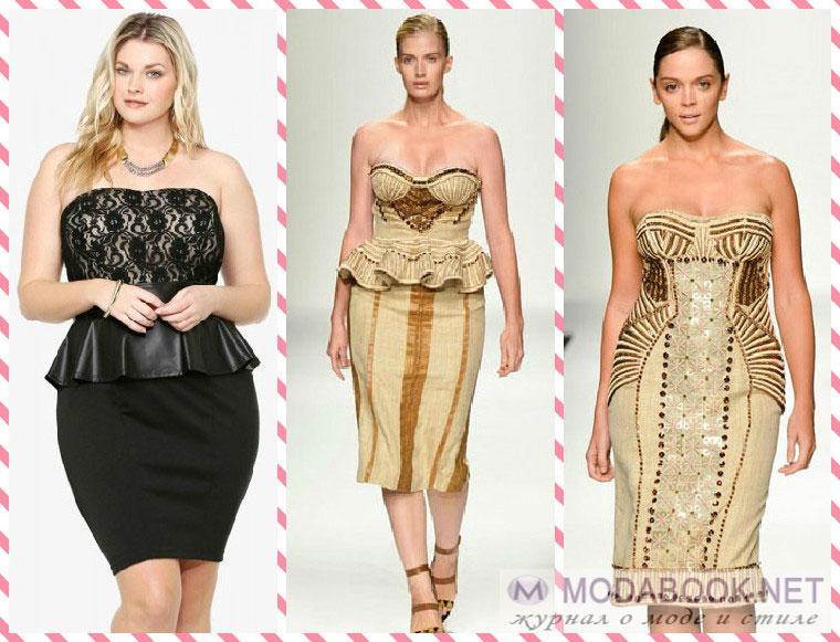 Модели одежды для полненьких женщин летом 2015 года