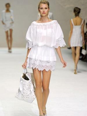 Белое платье 2016 для лета