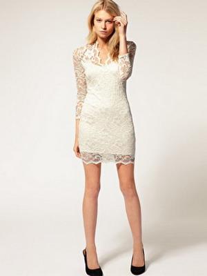 Модные белые платья в кружево